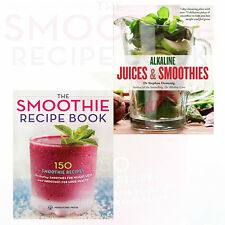 Smoothie Recipe Book and Alkaline Juices and Smoothies 2 Book Collection Set NEW