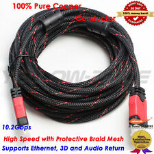 1080P HDMI Video Converter Adapter Cable 30FT Ferrite Cores for PC DVD HDTV TV