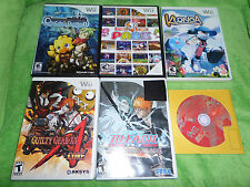 Nintendo Wii Lot Klonoa Chocobo's Dungeon Furu Park Guilty Gear King of Fighters
