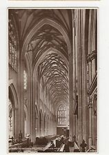St. Mary Redcliffe, Bristol, Looking West RP Postcard, A850