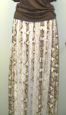 LONG WHITE HOUSE BLACK MARKET--sz 10--SNAKE PRINT CHIFFON MAXI SKIRT--NWT
