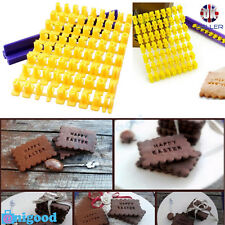 Alphabet Number Letter Cookie Biscuit Stamp Cutter Embosser Cake Mould Tools UK