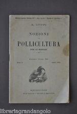 Avicoltura Luppi Nozioni Pollicultura Massaie Pollame Galline Pulcini Galli 1891