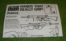 VINTAGE ACTION MAN 40th MANUAL LEAFLET EAGLE EYE SHARPSHOOTER