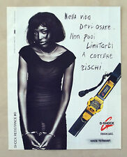 C260-Advertising Pubblicità-1998- G SHOCK TOUGH LABEL OROLOGI