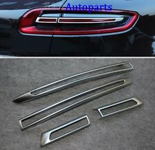 Matt Chrome Taillight Eyebrows cover trim For Porsche Macan S turbo 2014-2017