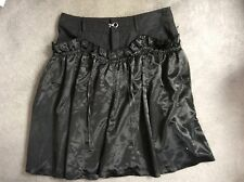 FIRETRAP BLACK SKIRT WITH COTTON TOP HALF & GATHERED SHINY LOWER HALF - SIZE 38