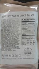 2 Beef Ravioli in Meat Sauce MRE Entree/Military Meal/Survival Food /Camping