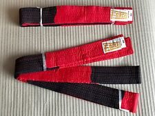2x Black & Red Karate Belt - Karate Master Fancy Dress - Higher than Black Belt
