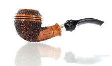 Pipe Ser Jacopo della Gemma 60 R1 DELECTA Rusticated Rhodesian With Silver Ring