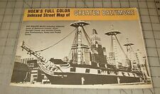 Vintage Hoen's Folded Full Color Indexed Street Map of GREATER BALTIMORE, MD