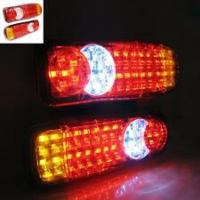 Led Rear Tail Truck Lights Lamps Lorry Tipper Trailer Transporter Chassis 24v