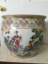 ANTIQUE CHINESE FISH/FLOWER BOWL WITH QIANLONG MARK