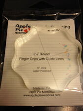 Apple Pie Clear Stamp Acrylic Block! 2.5 Round! w/Grips and Guide Lines