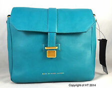 MARC BY MARC JACOBS NATURAL SELECTION MINI MESSENGER TEAL LEATHER CROSSBODY BAG