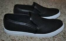 NIB $75-Mens Rock & Republic Black Drake Faux Leather Casual Loafer Shoes-sz 8.5