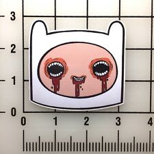 "Adventure Time Crazy Finn  4"" Wide Vinyl Decal Sticker BOGO"