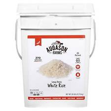 Augason Farms Emergency Food Long Grain White Rice Pail 28 lbs