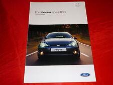 """FORD Focus """"Sport TDCi"""" Sondermodell Prospekt von 2003"""