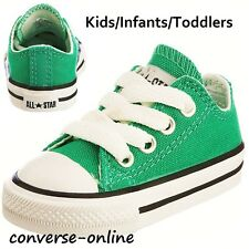 KIDS Baby Boy Girl CONVERSE All Star EMERALD GREEN OX Trainers Shoe 19 SIZE UK 3