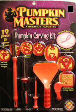19-PIECE PUMPKIN CARVING KIT & 14 Patterns 5 Tools Halloween Masters Scoop NEW