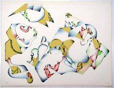 Lithographie de Jan VOSS  signée numér. 1974 Das beste Klima des Kontinents
