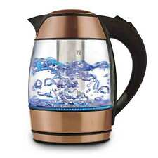 Brentwood KT-1960RG Borosilicate Glass Tea Kettle with Infuser, Gold