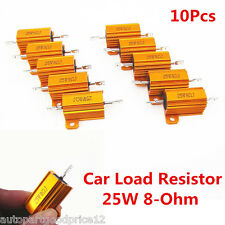 10Pcs Universal Auto Car Load Resistor 25W 8-Ohm Fix LED Bulb Fast Flash Blinker