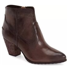 FRYE  'Reina' Western Brown Distressed Ankle Boot Size 7M