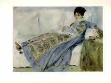 "1960 Vintage RENOIR ""MADAME MONET LYING ON A SOFA"" COLOR offset Lithograph"