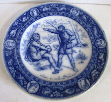 Wedgwood Ivanhoe Flow Blue Dinner Plate Wamba & Gurth the Swineherd
