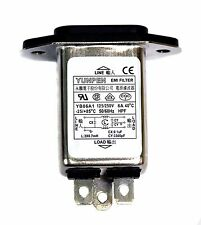 10pc EMI Filter IEC AC Inlet YB06A1 115V 250V 6A -25~+85℃ UL CSA VDE RoHS YUNPEN