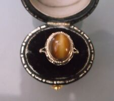 Men's/Women's 9ct Gold Vintage Tigers Eye Stone Ring Size I Weight 2.3g Quality