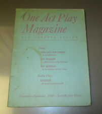 1940 ONE ACT PLAY And Theatre Review Magazine #7 Nov-Dec VG