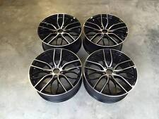 "20"" Staggered 405M Performance Style Wheels Gloss Black Machined BMW 3 5 Series"