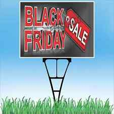 "18""X24""  BLACK FRIDAY SALE Outdoor Yard Sign & Stake Sidewalk Lawn Sales Savings"