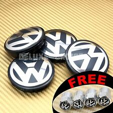 4 CAR ALLOY WHEEL RIM CENTER LOGO CAP HUB 66mm for VW VOLKSWAGEN BLACK 3B7601171