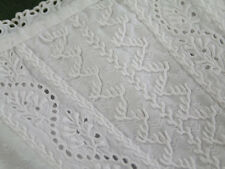 Glorious! Antique c1900 White French Ayershire Lace Baby Christening Gown