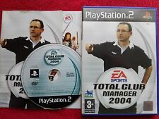 Total club manager 2004 original black label SONY PLAYSTATION 2 PS2 pal