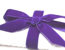 16mm Berisfords Velvet Ribbon PURPLE  High End Quality Ribbon   1 Metre