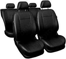CAR SEAT COVERS full set fit Nissan Primera Universal Leatherette Black