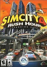 PC Sim City 4 Rush Hour Expansion Pack CD ROM FAST FREE SHIPPING