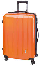 Trolley Boardcase 50 cm Koffer Trolly Handgepäck mit TSA London carbon / orange