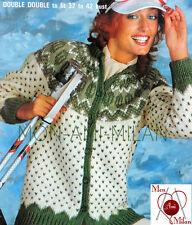 """Vintage Knitting Pattern LADIES WONDERFUL FAIR ISLE JACKET CARDIGAN 32-42"""" - PDF"""