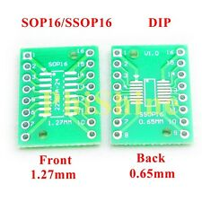 20pcs SOP16 SSOP16 TSSOP16 SMD to DIP Adapter Double Sides 0.65mm & 1.27mm