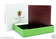 TOPSUM OF LONDON LUXURY QUALITY SOFT BROWN LEATHER MENS GIFT BOXED WALLET 4010