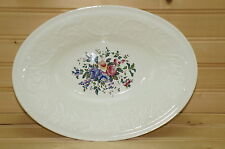"Wedgwood Patrician Swansea Oval Vegetable Serving Bowl, 10¾"" x 8""  (L)"