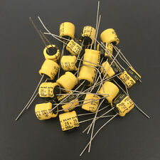 50pcs 100uF 25V 8x7mm 25V100UF Japan ELNA  Audio Capacitor Yellow