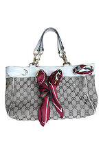 *GUCCI* WEB GG CANVAS POSITANO SCARF BAG