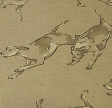 Oilcloth Table Cloth Linen Fabric Running Hounds Print